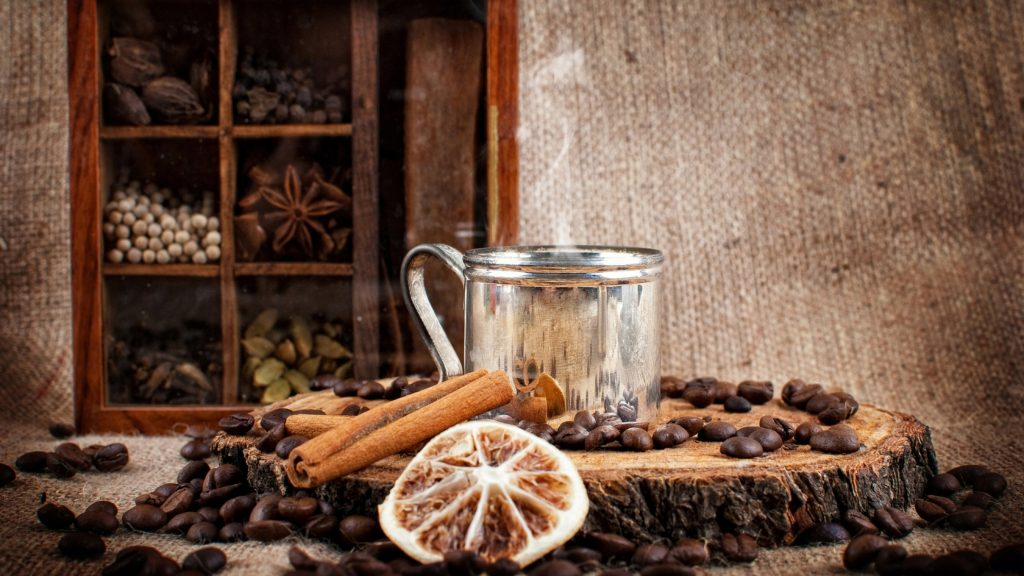 coffee with spices and cinnamon