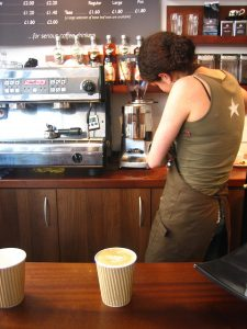 a barista at work