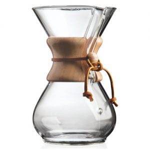 a product shot of the chemex