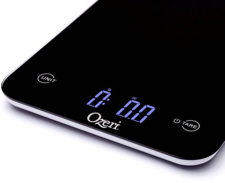 ozeri touch coffee scale close-up
