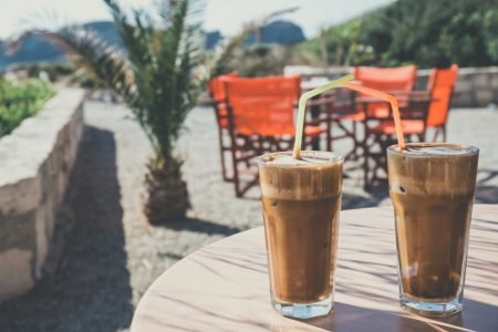 cold coffee on a hot day