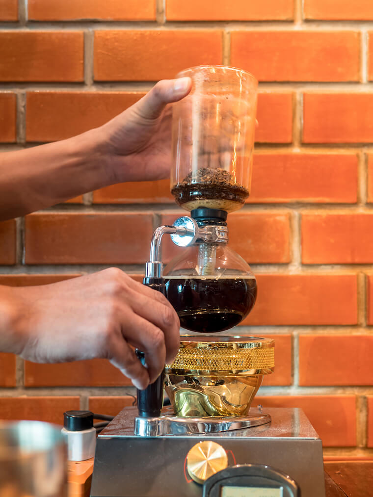 siphon coffee - immersion