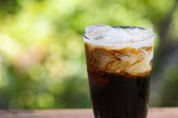 a just mixed iced coffee
