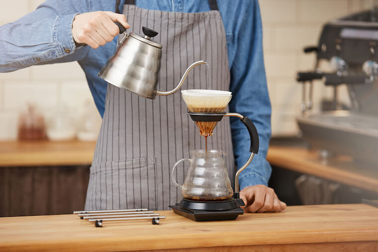 Pour over - a percolation brew