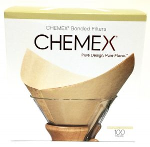 box of bleached chemex filters