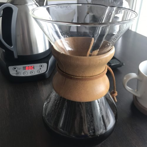 chemex coffee maker ready to brew